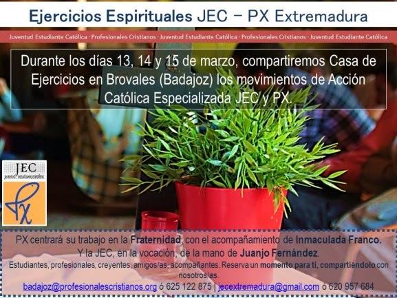 La Fraternidad y la Vocación desde el seguimiento a Jesús en el Retiro de PX Extremadura