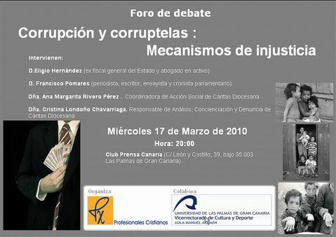 Foro en Canarias sobre corrupción