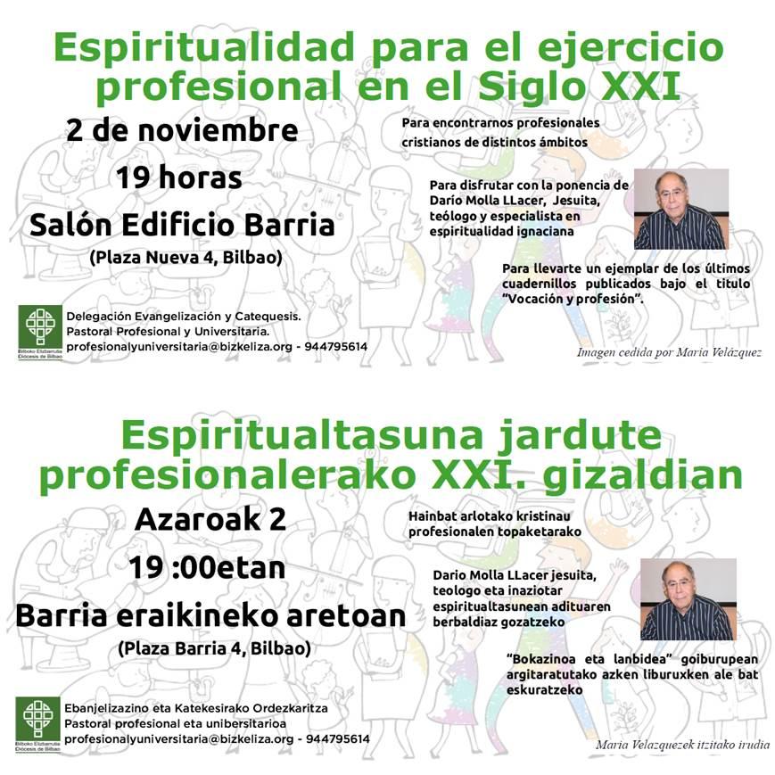 """Jornada """"Espiritualidad para el ejercicio profesional en el Siglo XXI"""""""