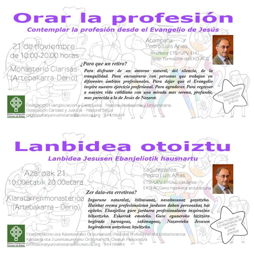 """""""Orar la Profesión"""". Retiro en la Diócesis de Bilbao."""