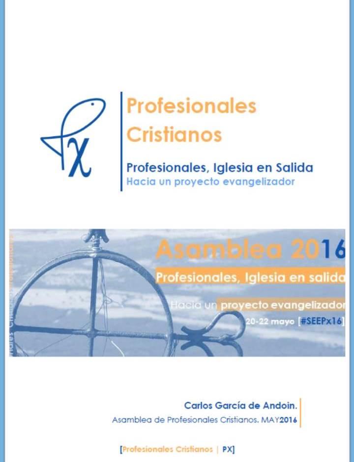 Profesionales, Iglesia en salida: hacia un proyecto evangelizador (Carlos García de Andoin)
