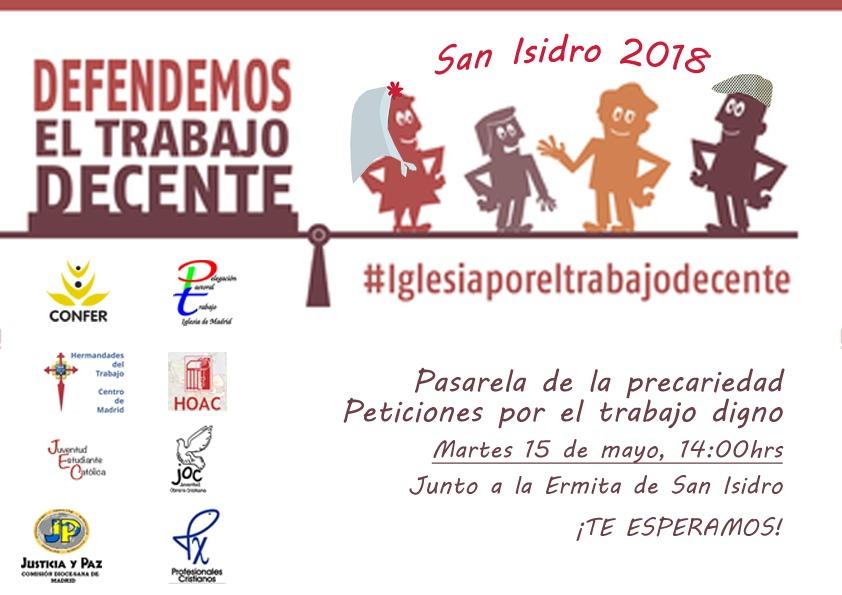 Entidades de Iglesia de Madrid celebran la «pasarela de la precariedad» para alertar de la falta de trabajo decente